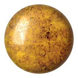 Cabochons par Puca® lasikapussi 25 mm, opaakki marmoroitu pronssinen jonquil