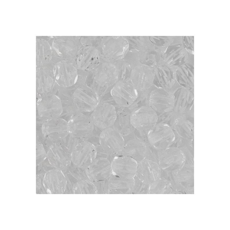 Preciosa fasettihiottu pyöreä lasihelmi 4 mm, kirkas