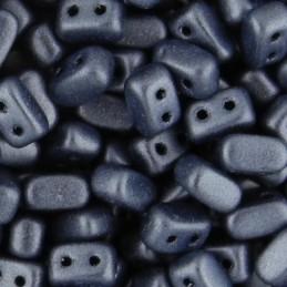 Ios® par Puca® lasihelmi 5,5 x 2,5 mm, metallinen matta sininen