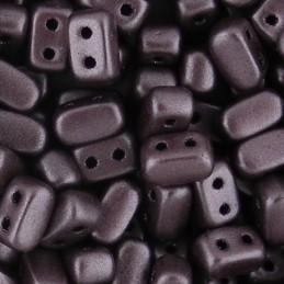Ios® par Puca® lasihelmi 5,5 x 2,5 mm, metallinen matta tumma luumu