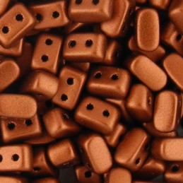 Ios® par Puca® lasihelmi 5,5 x 2,5 mm, matta pronssinen punainen