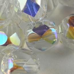 Preciosa fasettihiottu pyöreä lasihelmi 6 mm, kirkas AB