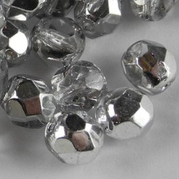 Preciosa fasettihiottu pyöreä lasihelmi 6 mm, kirkas labrador