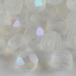 Preciosa fasettihiottu pyöreä lasihelmi 6 mm, kirkas matta AB