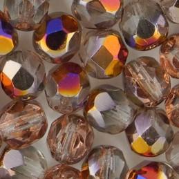 Preciosa fasettihiottu pyöreä lasihelmi 6 mm, kirkas sliperit