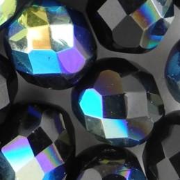 Preciosa fasettihiottu pyöreä lasihelmi 8 mm, opaakki musta AB