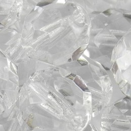 Preciosa fasettihiottu pyöreä lasihelmi 8 mm, kirkas