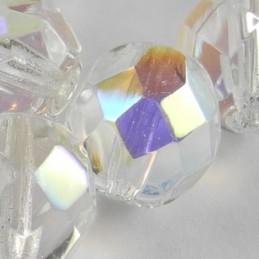 Preciosa fasettihiottu pyöreä lasihelmi 8 mm, kirkas AB