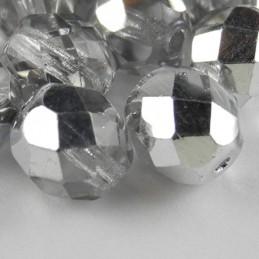 Preciosa fasettihiottu pyöreä lasihelmi 8 mm, kirkas labrador