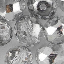 Preciosa fasettihiottu pyöreä lasihelmi 10 mm, kirkas labrador