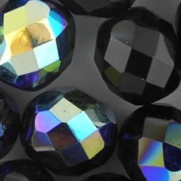 Preciosa fasettihiottu pyöreä lasihelmi 10 mm, opaakki musta AB