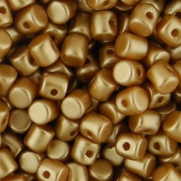 Minos® par Puca® lasihelmi 2,5 x 3 mm, pastelli meripihka