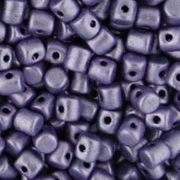 Minos® par Puca® lasihelmi 2,5 x 3 mm, metallinen matta violetti