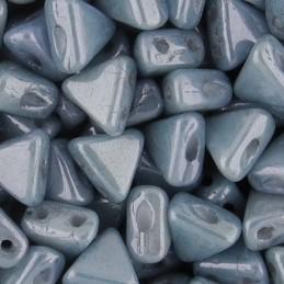 Khéops® par Puca® lasihelmi 6 x 6 mm, opaakki keraaminen sininen