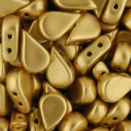 Amos® par Puca® lasihelmi 5 x 8 mm, matta vaalea kulta