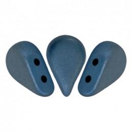 Amos® par Puca® lasihelmi 5 x 8 mm, metallinen matta tummansininen