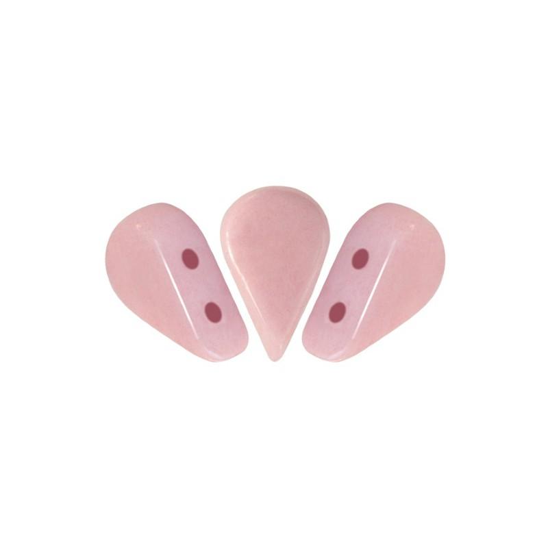 Amos® par Puca® lasihelmi 5 x 8 mm, opaakki keraaminen vaalea roosa