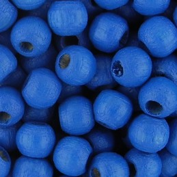 Preciosa pyöreä lakattu puuhelmi 4 mm, sininen