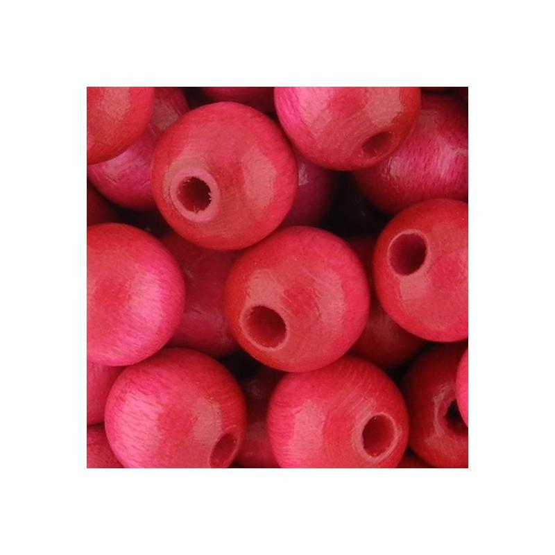 Preciosa pyöreä lakattu puuhelmi 8 mm, pinkki