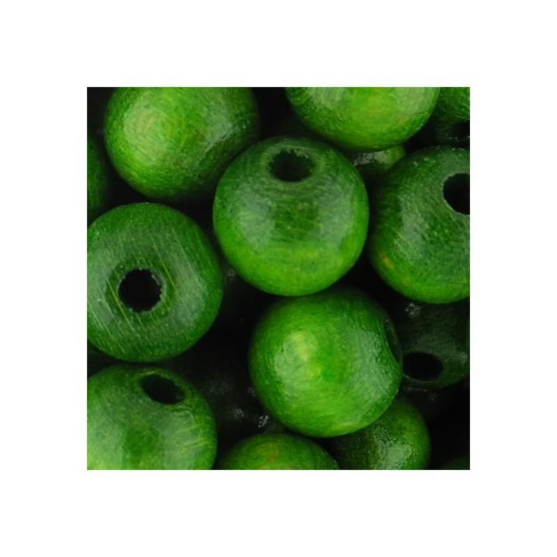 Preciosa pyöreä lakattu puuhelmi 8 mm, vihreä