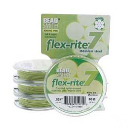 Flex-Rite 7-säikeinen koruvaijeri 0,45 mm, keltavihreä