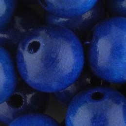 Preciosa pyöreä lakattu puuhelmi 14 mm, tummansininen