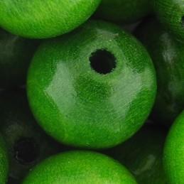 Preciosa pyöreä lakattu puuhelmi 14 mm, vihreä