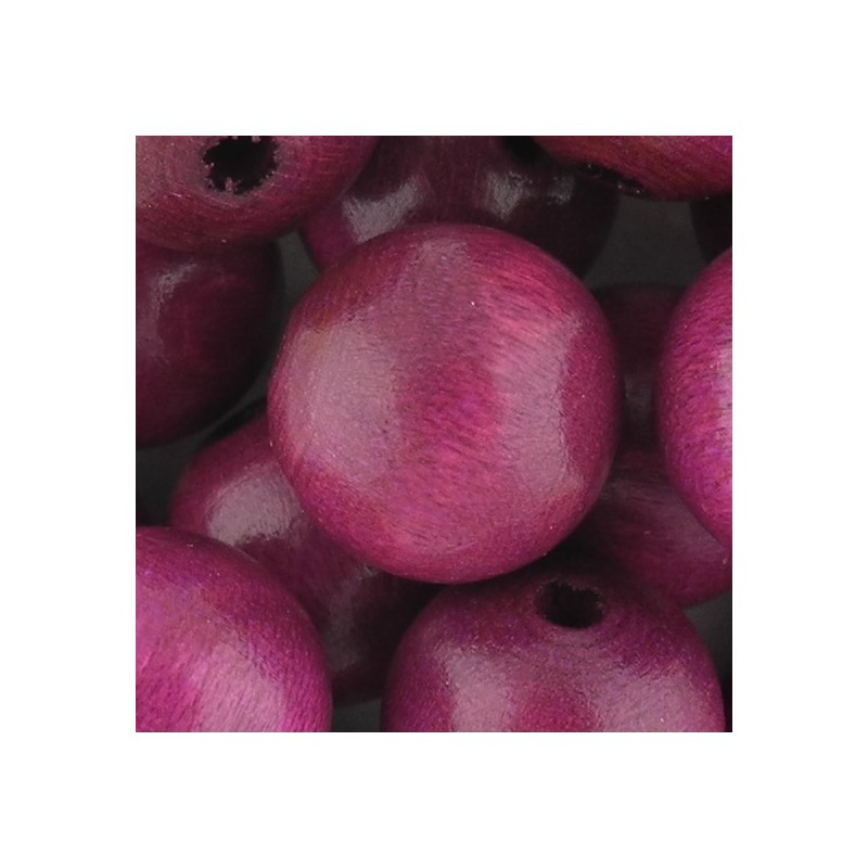 Preciosa pyöreä lakattu puuhelmi 14 mm, lila