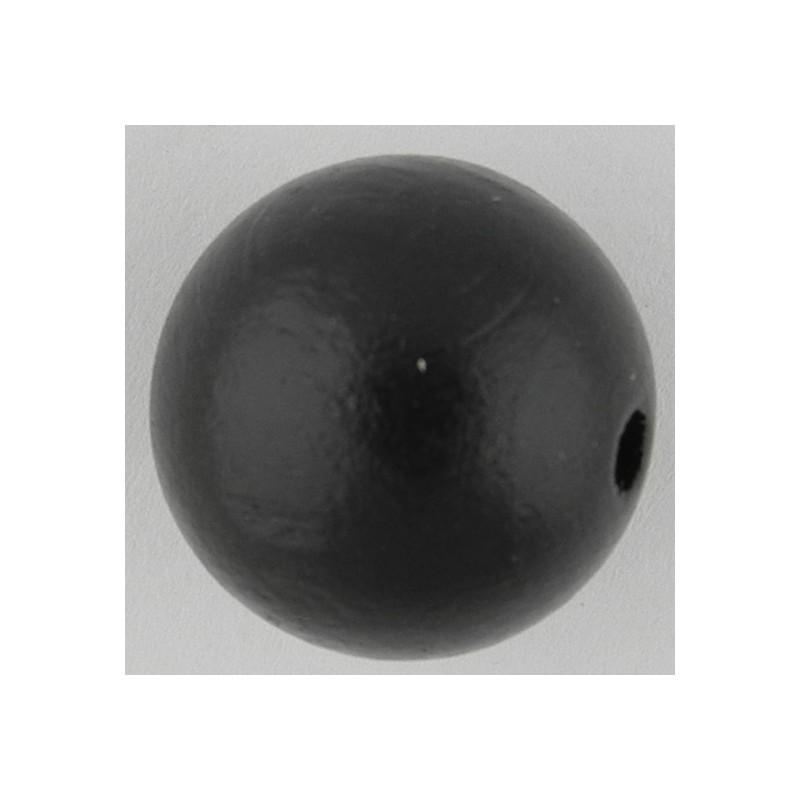 Preciosa pyöreä lakattu puuhelmi 20 mm, musta