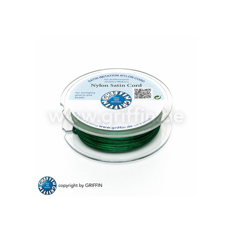 Griffin nailon satiininyöri 1,0 mm, vihreä