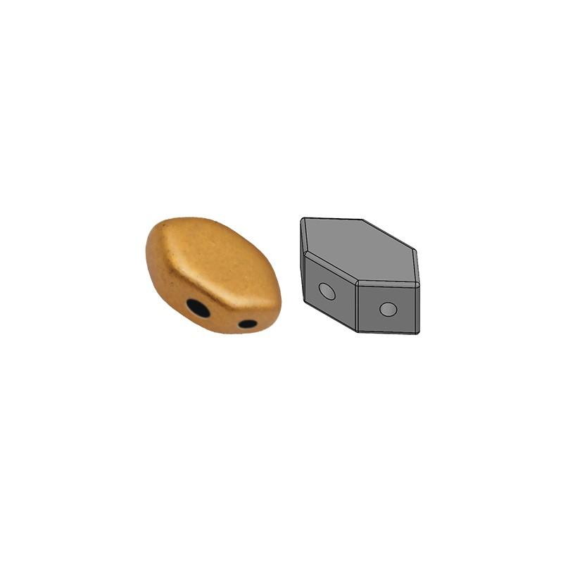 Paros® par Puca® lasihelmi 4 x 7 mm, matta pronssinen kulta