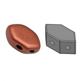Paros® par Puca® lasihelmi 4 x 7 mm, matta pronssinen punainen