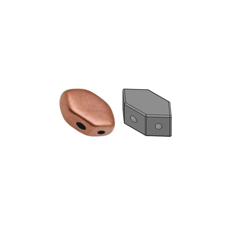 Paros® par Puca® lasihelmi 4 x 7 mm, matta kuparinen kulta
