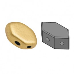 Paros® par Puca® lasihelmi 4 x 7 mm, matta vaalea kulta