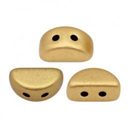 Kos® par Puca® lasihelmi 3 x 6 mm, matta vaalea kulta