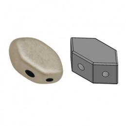 Paros® par Puca® lasihelmi 4 x 7 mm, metallinen matta beige