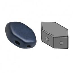 Paros® par Puca® lasihelmi 4 x 7 mm, metallinen matta tummansininen