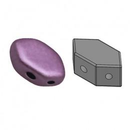 Paros® par Puca® lasihelmi 4 x 7 mm, metallinen matta tumma luumu