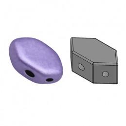 Paros® par Puca® lasihelmi 4 x 7 mm, metallinen matta violetti