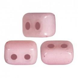 Ios® par Puca® lasihelmi 5,5 x 2,5 mm, opaakki keraaminen vaalea roosa