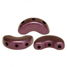 Arcos® par Puca® lasihelmi 5 x 10 mm, metallinen matta tumma punavioletti
