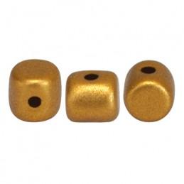 Minos® par Puca® lasihelmi 2,5 x 3 mm, matta pronssinen kulta
