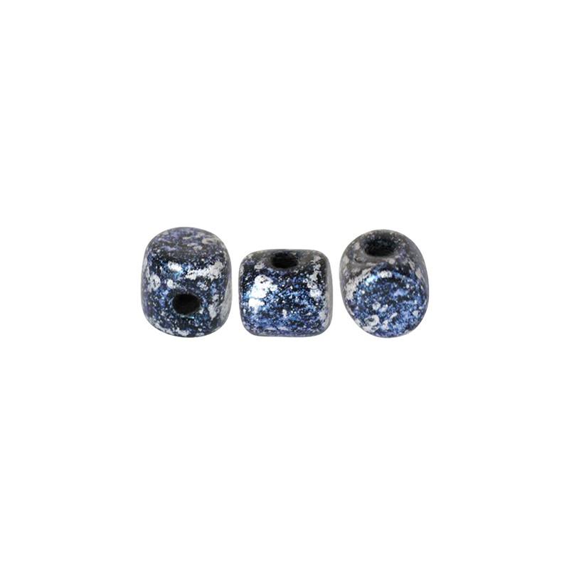 Minos® par Puca® lasihelmi 2,5 x 3 mm, sininen tweedy