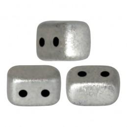 Ios® par Puca® lasihelmi 5,5 x 2,5 mm, matta alumiini hopea