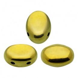 Samos® par Puca® lasihelmi 5 x 7 mm, kullanvärinen