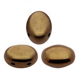 Samos® par Puca® lasihelmi 5 x 7 mm, opaakki tumma kultainen pronssi