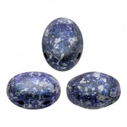 Samos® par Puca® lasihelmi 5 x 7 mm, sininen tweedy