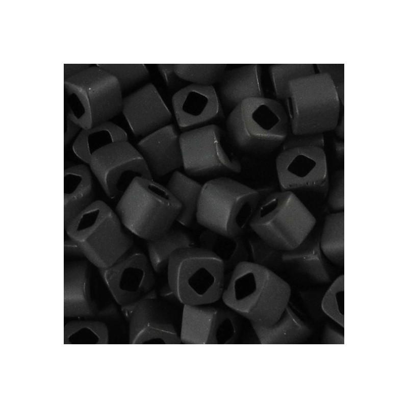 Toho siemenhelmi kuutio 3 mm, opaakki huurrettu musta