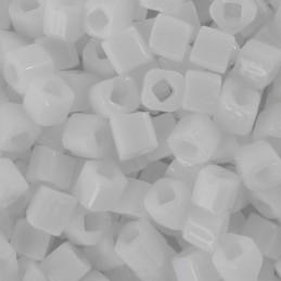 Toho siemenhelmi kuutio 3 mm, opaakki valkoinen