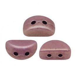 Kos® par Puca® lasihelmi 3 x 6 mm, opaakki keraaminen violetti/kulta